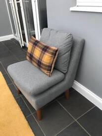 Next - Grey fabric chair