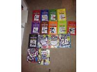 Diary of a wimpy kid collection and Tom Gates collection books