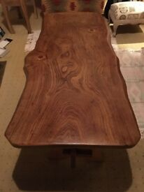 Front room table & Tv stand - ELM WOOD