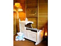 Vintage Wooden Ornate Crib Cradle Nursery