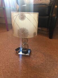 Silver / brown lamp