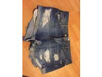 River island denim shorts size 14 great condition