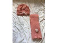 Matching pink hat & scarf
