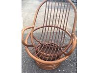 Bamboo Swivel Chairs