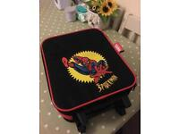 Childs toddler spiderman suitcase