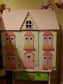 ELC dolls house with loads of furniture and extras