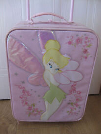 DISNEY TINKERBELL PULL ALONG LIGHT UP CASE +extending handle firm exterior +carry handle NOW REDUCED