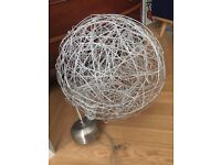 Ceiling silver wire lamp with small leds 50 cm diameter - bought in designer store