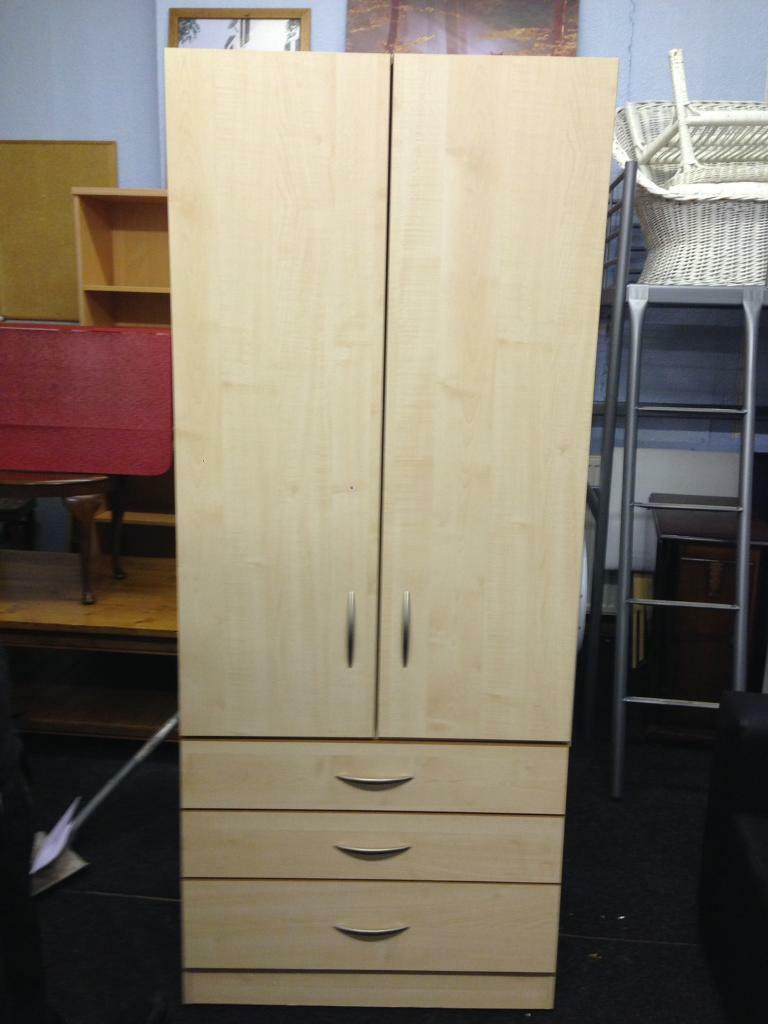 Solid double wardrobe with 3 good size drawers