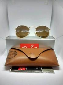 Ray-Ban round sunglasses brown tint
