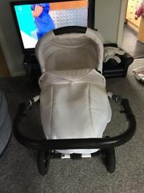 Gorgeous white and baby pink Leopard print 3 travel system