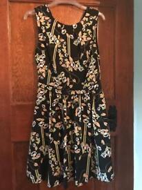 Oasis black dress size 8