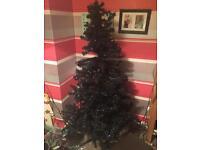 6ft black pre lit tree