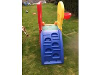 Kids slide and basket ball