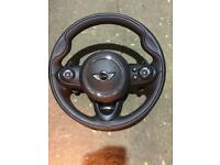MINI F54/55/56/57 JCW LEATHER MULTI FUNCTION PADDLE SHIFT STEERING WHEEL