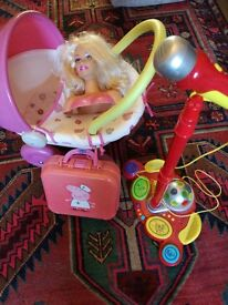 Pram,Disco Microphone,Pepa Pig Medical Case &Equipment Doll Head