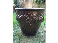 Hand made very large Terracotta pot.