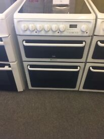Reconditioned 60cm Hotpoint ceramic cooker