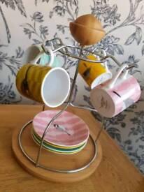 Espresso mug set with stand