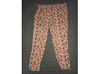 Peacocks tapered patterned pants (NEAR OFFERS ACCEPTED)