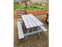 kids and adult benches any colour and glitter all weather trteated