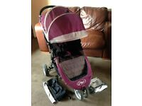 CAN POST BABY JOGGER CITY MINI PUSHCHAIR & EXTRAS IDEAL HOLIDAY PRAM BUGGY STROLLER ONE HAND FOLD
