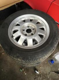 Audi alloys x5 with tyres