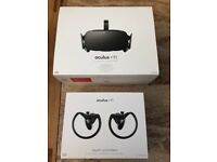 Oculus Rift Virtual Reality Headset & Touch Controllers Bundle Only Used Twice Fully Boxed As New