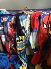Boys Spider-Man batman and captain America onzies