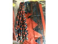 Three Pairs Custom Made Fully Lined Heavy Curtains Fabric Size: W264cm L210cm