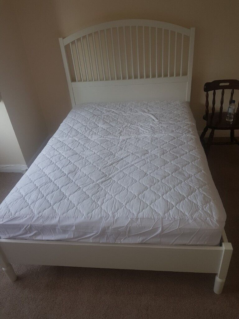 Stupendous Ikea Double Bed And Mattress In Nearly New Condition In Edgware London Gumtree Pdpeps Interior Chair Design Pdpepsorg