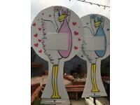 Stork garden sign hire