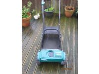 COOPERS CORDLESS CYLINDER MOWER AND GRASS COLLECTOR