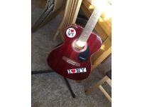 Red Westfield 3/4 Guitar