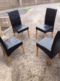 Harvey's Dining Chairs X 4 good condition