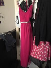 Long pink red herron dress from Debenhams with tags brand new