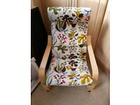 Ikea poang chair with cover