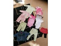 Baby Girl 3-6 months bundle of 12 items
