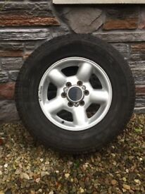 ISUZU TROOPER ALLOY WHEEL WITH AS NEW TYRE 245/70/16