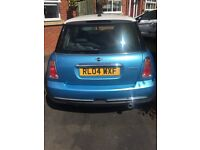 MINI COOPER BRIGHT BLUE 1.6 LITRE AMAZING PRICE - PETROL - TWO PREVIOUS OWNERS - BUY NOW **