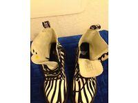 Dr martens lady's boots (zebra pattern)
