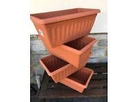 4 x Garden Trough Planter NEW