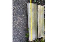 """8 x Concrete Edging Stones 3ft x 10"""" plus some half pieces £20 the lot"""