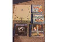 Sega Dreamcast Console FOR PARTS +4 games Blue Stinger Virtua Athlete Retro Rare NO TIME WASTERS