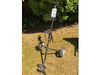 2 WHEEL PULL GOLF TROLLEY - GOOD CONDITION