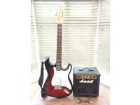 Red and White Electric Westfield Guitar & Marshall G10 amp for free!