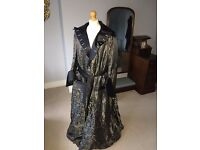 Man's theatrical back silk, figured brocade silk dressing gown