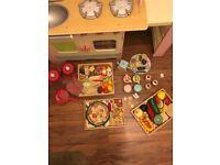 ELC wooden kitchen with Melissa & Doug accessories