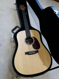 Martin DX1K dreadnought acoustic guitar and hard case