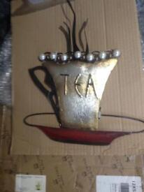 New metal tea wall art